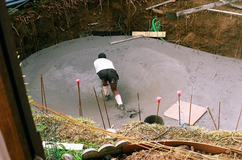 Le radier construction de notre piscine for Radier piscine beton
